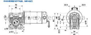 Мотор-редуктор поятоянного тока NMRV 25/ 70ZYT