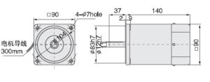 малогабаритный электродвигатель 5IK120A