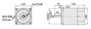 малогабаритний електродвигун 5IK60A
