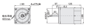Малогабаритный электродвигатель 5IK60A