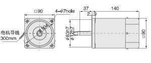 Малогабаритный электродвигатель 5IK90A