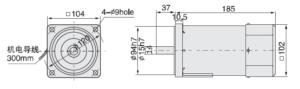 малогабаритный электродвигатель 6IK140A