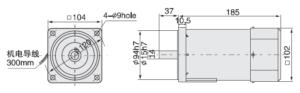 малогабаритний електродвигун 6IK180A